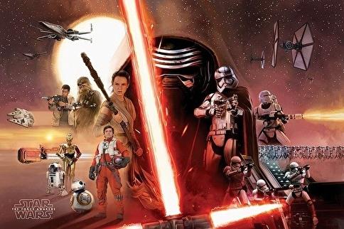 Pyramid International Maxi Poster - Star Wars Episode VII Galaxy Renkli